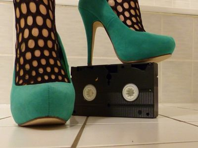 Sexy Green Heels Crush VHS Tapes